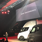 Tesla just unveiled its first electric semi — and it looks like a spaceship (TSLA)