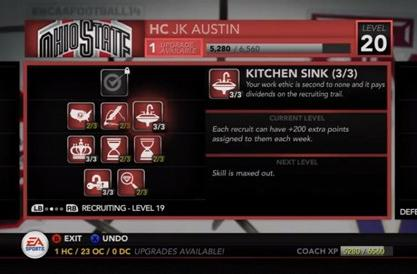 NCAA 14 Dynasty mode levels up with coach skills, recruiting changes
