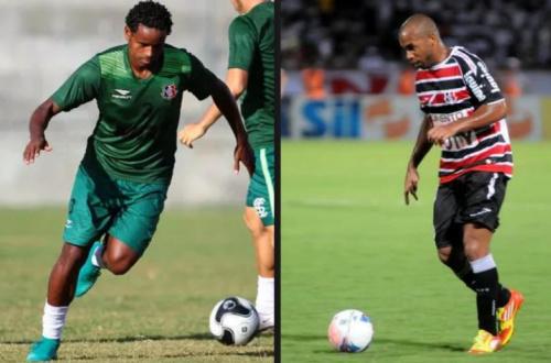 Tiago Costa e Elicarlos treinam entre titulares do Santa Cruz