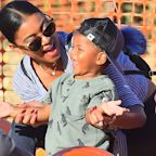 Kevin Hart's Wife & Son Head to Pumpkin Patch Without 'Jumanji' Star