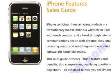 iPhone details uncovered in Sales Training Workbook