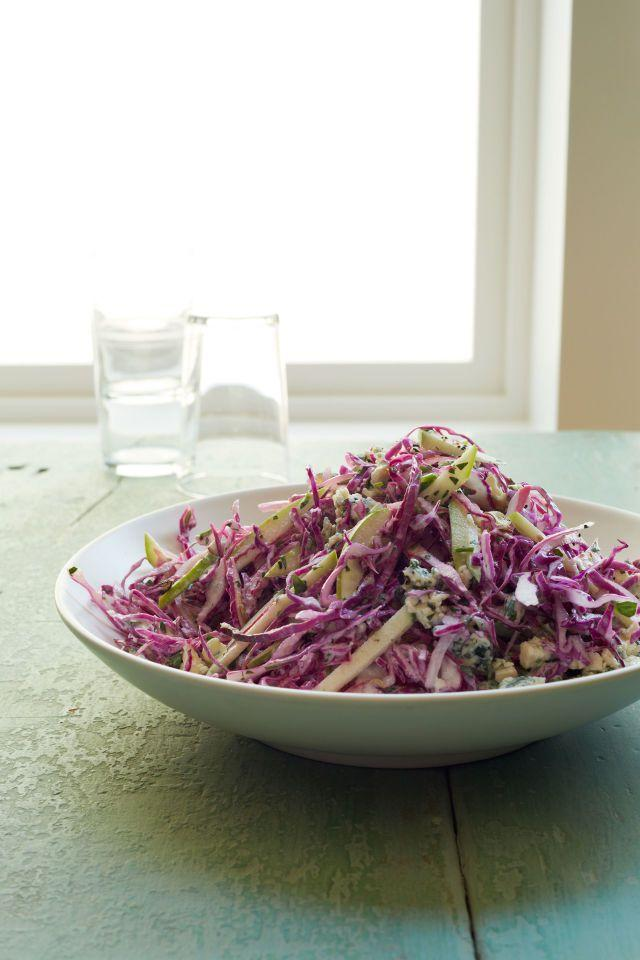 "<p>Adding blue cheese gives crunchy cabbage a creamy texture. <br></p><p><strong><a href=""https://www.womansday.com/food-recipes/food-drinks/recipes/a12319/creamy-blue-cheese-slaw-recipe-wdy0114/"" rel=""nofollow noopener"" target=""_blank"" data-ylk=""slk:Get the recipe"" class=""link rapid-noclick-resp"">Get the recipe</a>. </strong><br></p>"