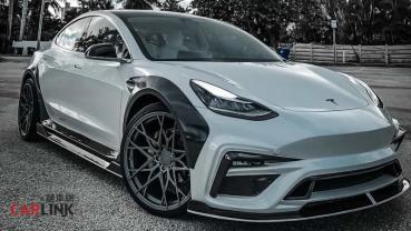 「改快不如改帥」!Tesla Model 3「最騷包」寬體套件出爐