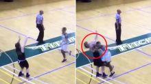 'Deserves jail': Basketball player's disgusting cheap shot