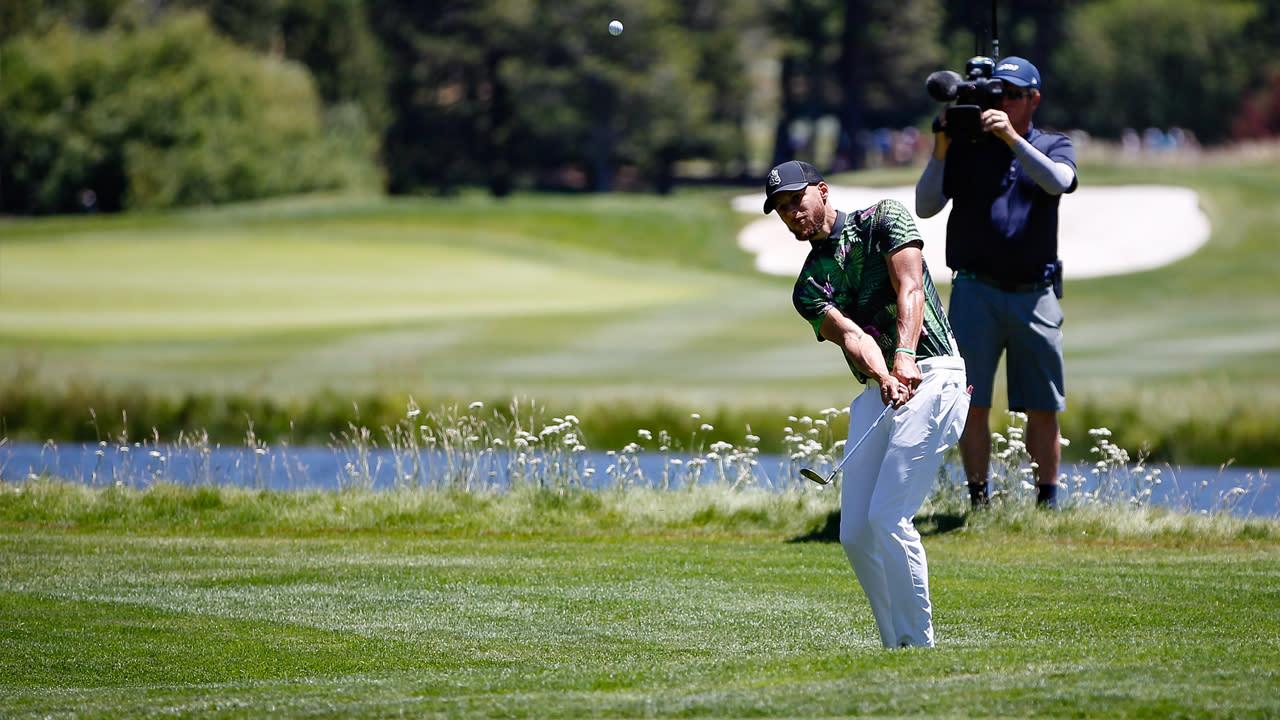 Steph Curry, profesyonel golf turnuvası için büyük Warriors oyunlarından daha gergin