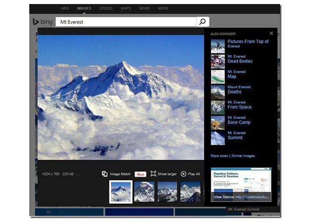 Bing finally supports image matching in search
