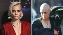 Cara Delevingne se rapa la cabeza para rodar 'Life in a Year'