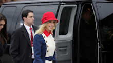 'Trump whisperer' Kellyanne Conway wore a wild 'revolutionary' dress to the inauguration