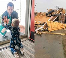 An Arkansas doctor stayed in his home to socially distance from his wife and child. Days after his photo went viral his house was destroyed by a tornado.