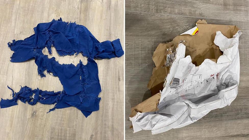 Australia Post delivered gifts arrive 'shredded'