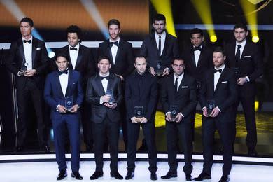 Equipe type 2013 FIFA : 2 joueurs français et 4 de Ligue 1 nommés, contre 9 pour le Bayern