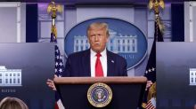 Trump storms out of press conference after pressed on his support for alleged Kenosha shooter