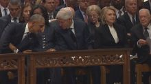 Lip reader reveals what leaders said during President Bush's funeral