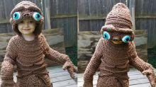 This mum crochets super-adorable Halloween outfits for her son