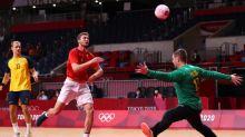 Olympics-Handball-Perfect record dented as Denmark set up Norway quarter-final