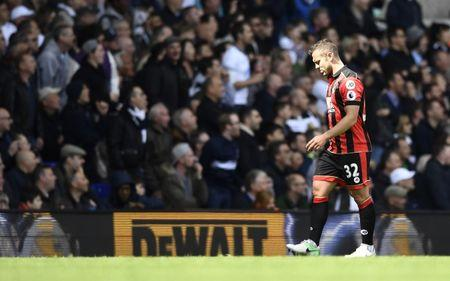 Bournemouth's Jack Wilshere walks off to be substituted  after sustaining an injury