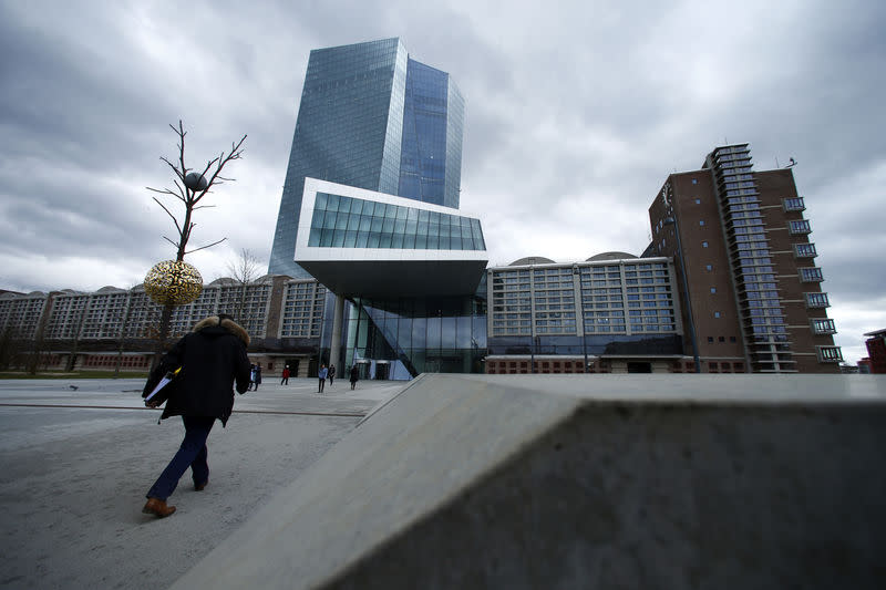 FILE PHOTO: European Central Bank (ECB) headquarters building is seen in Frankfurt