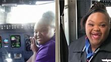 Menina com Down realiza sonho de se tornar comissária de bordo