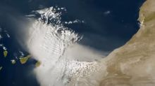 Canary Islands sandstorm: Stunning satellite images show 'apocalyptic' Saharan dust clouds engulf Lanzarote and Fuerteventura