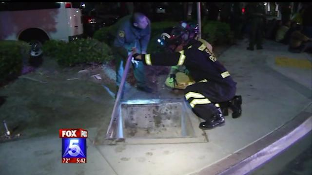 Trapped Immigrants Rescued From Storm Drain