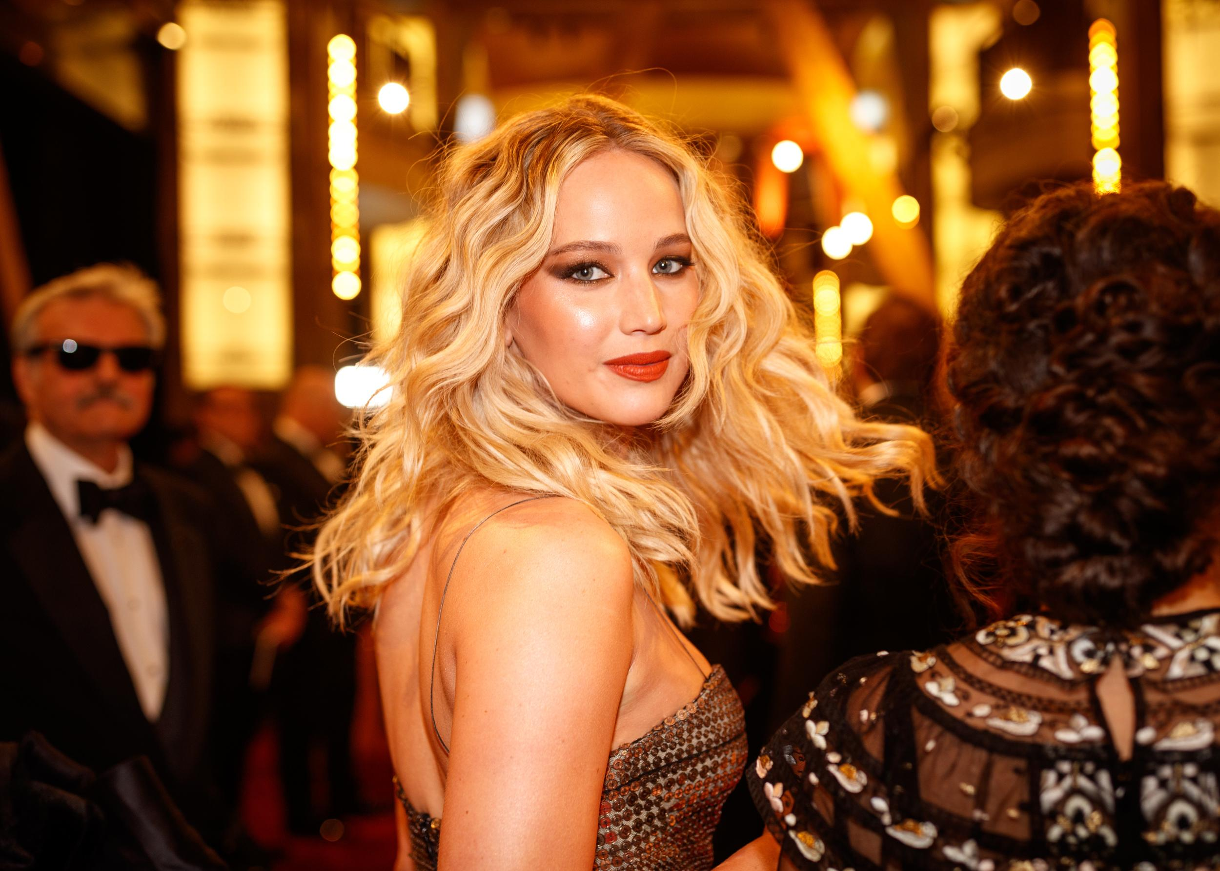 HOLLYWOOD, CA - MARCH 04: Jennifer Lawrence attends the 90th Annual Academy Awards at Hollywood & Highland Center on March 4, 2018 in Hollywood, California. (Photo by Christopher Polk/Getty Images)