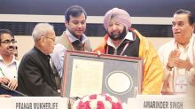 Captain Amarinder Singh honoured with 'ideal' CM award