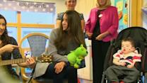 Duchess of Cambridge sings with sick children at hospice