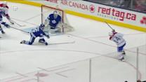 Tomas Plekanec scores from the wide angle