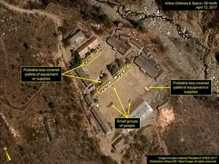 North Korea's Punggye-ri Nuclear Test Site is seen in commercial satellite imagery taken April 12