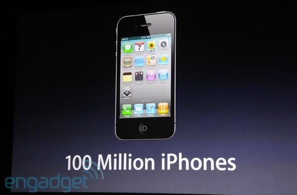 Apple ships 100 millionth iPhone, 15 million iPads sold in 2010