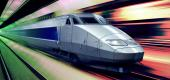 High-speed rail. (Photo illustration: Yahoo News; photos: Getty Images)