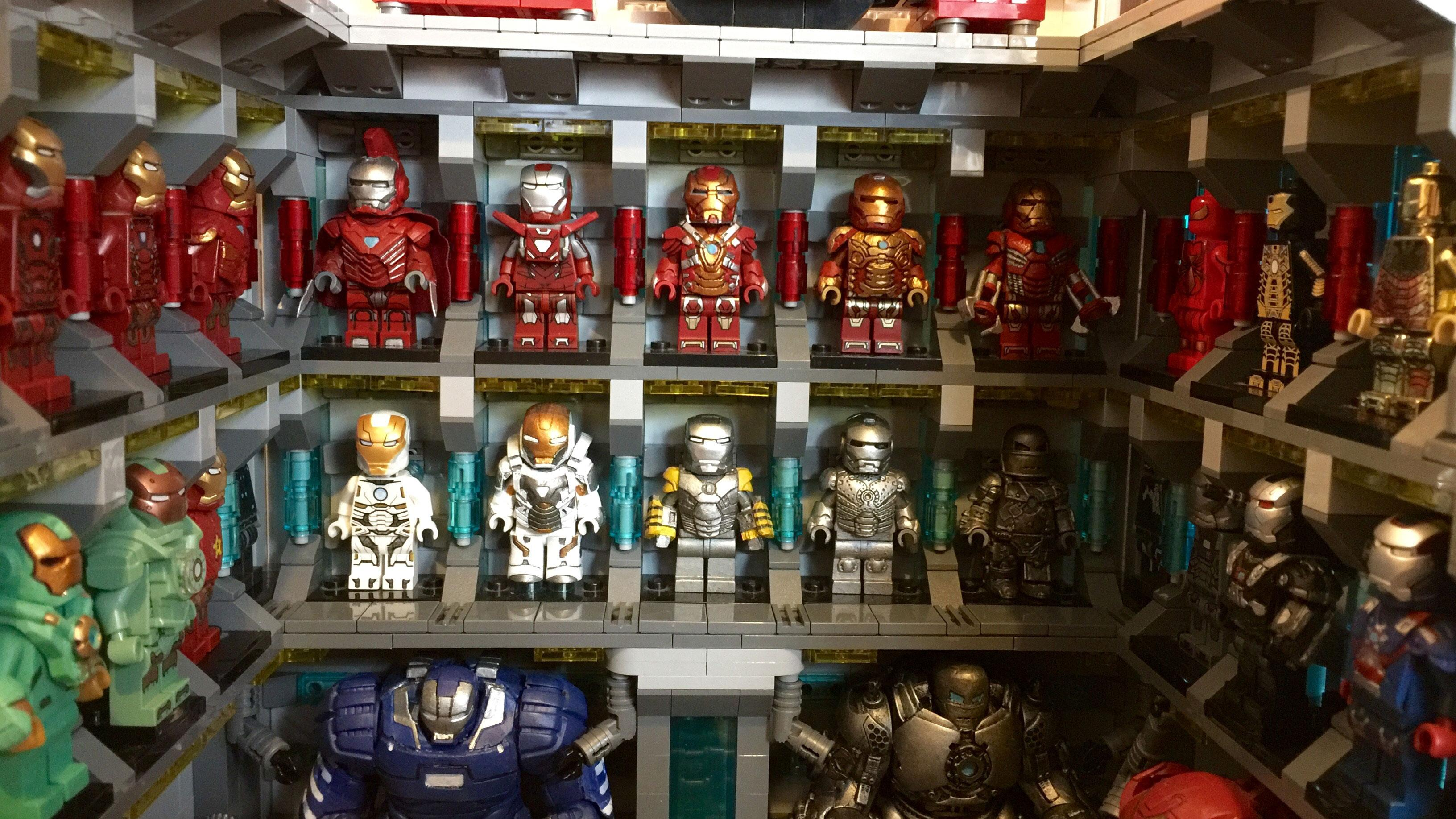 Lego versions of all the Iron Man suits would take so long to make