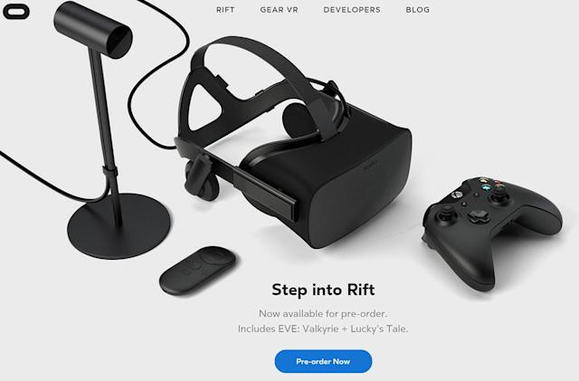 The Oculus Rift costs $599 and ships in March