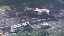 Traffic reopens on NJ Turnpike after truck fire