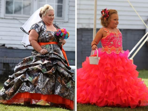 Honey Boo Boo S Mama June Sports Camouflage Wedding Gown