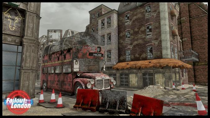 A still from the video game Fallout: London