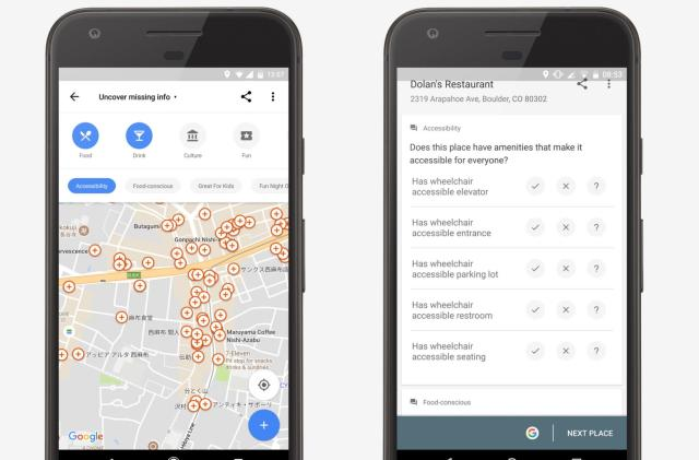 Google Maps crowdsources info for wheelchair-accessible places
