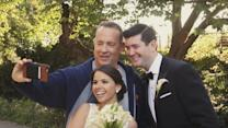 Tom Hanks Crashes Newlyweds' Photo Shoot in Central Park