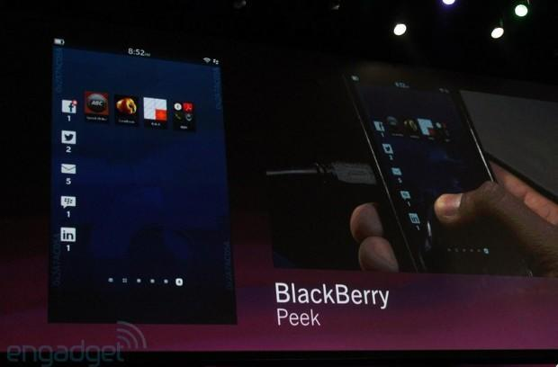 RIM puts BlackBerry 10 on display: new alarm, Peek gesture and more