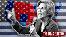 Warren's big applause line — abolish the Electoral College — gets picked up on the campaign trail