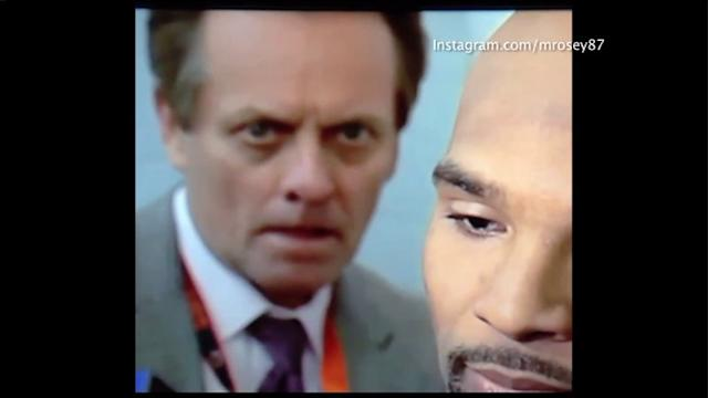Sports anchor creepily stares down Bears` Matt Forte during interview