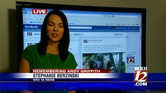 WXII Facebook fans fondly recall 'Andy Taylor'