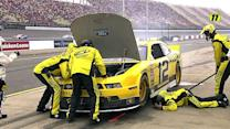 Debris ends Hornish Jr.'s day at Michigan