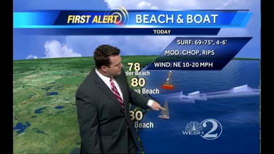 Saturday Outlook: Warm & Breezy, Rip Currents at the Coast