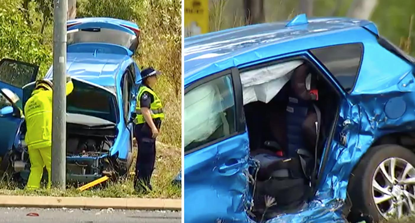 Girl, 9, dies as boy fights for life after crash tragedy in Queensland