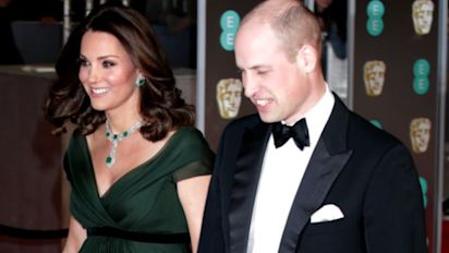 Duchess of Cambridge ditches black dress code, wears green to BAFTAs