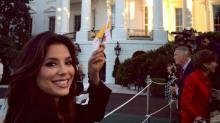 Eva Longoria Brings Sister Liza to See Pope at White House