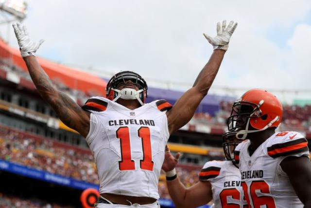 Terrelle Pryor is one of the few bright spots in this 0-4 season for the Browns. (Getty Images)