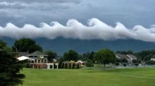 Rare wave-like clouds over Virginia mountain look like Van Gogh's famous 'Starry Night'