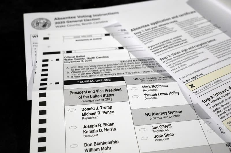North Carolina extends deadline for mailed ballots ahead of election court fights